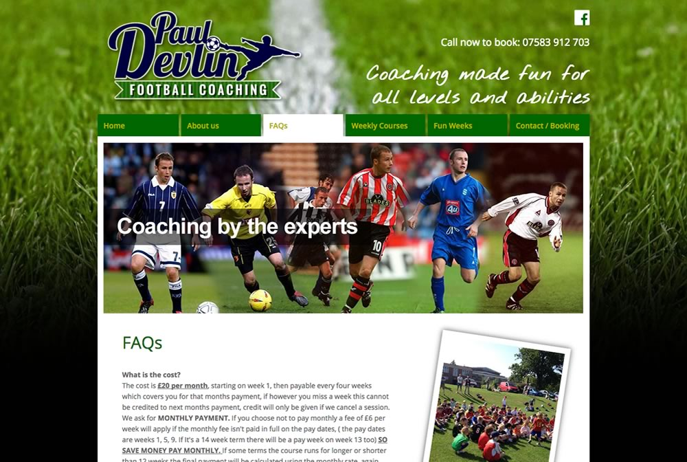 Paul Devlin Football Coaching
